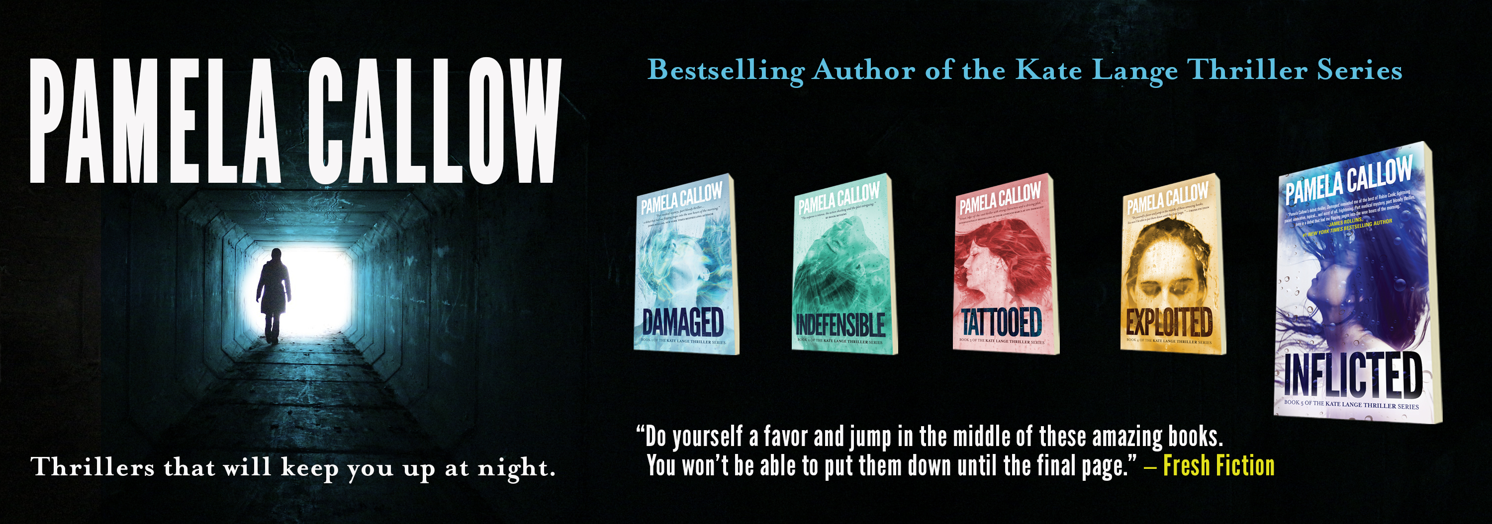 Home Page of Bestselling Thriller Author Pamela Callow